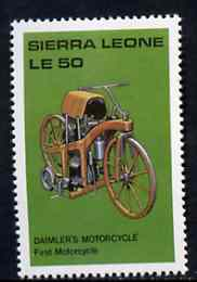 Sierra Leone 1987 Daimler Motorcycle unmounted mint - from Milestones of Transportation set, SG 1066*