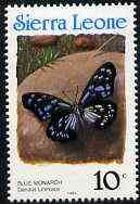 Sierra Leone 1991 Butterflies 10c (Danaus limniace) with country name in blue P14 unmounted mint, SG 1658