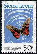 Sierra Leone 1991 Butterflies 50c (Graphium ridleyanus) with Country name in blue P14 unmounted mint, SG 1660