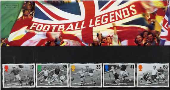 Great Britain 1996 European Football Championship set of 5 in official presentation pack SG 1925-29