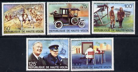 Upper Volta 1975 Birth Centenary of Sir Winston Churchill set of 5 cto used*