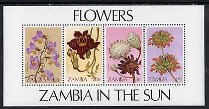 Zambia 1983 Wild Flowers m/sheet containing set of 4, SG MS 387 unmounted mint