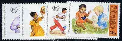 Zambia 1979 International Anti-Apartheid Year unmounted mint set of 4, SG 292-95