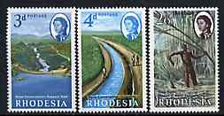 Rhodesia 1965 Water Conservation set of 3 unmounted mint, SG 354-56