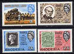Rhodesia 1966 Philatelic Congress 'Rhopex' set of 4 unmounted mint, SG 388-91