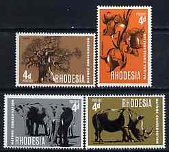 Rhodesia 1967 Nature Conservation set of 4 unmounted mint, SG 418-21*