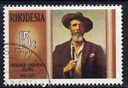 Rhodesia 1971 Famous Rhodesians (5th Series) Frederick Selous (Hunter, Explorer & Pioneer) fine used SG 458*