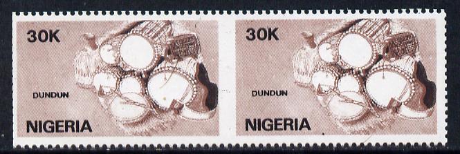 Nigeria 1989 Musical Instruments (dundun) 30k unmounted mint pair imperf between