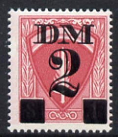 Germany - Allied Military Forces 1951 Travel Permit Stamp 2 Dm on $1 red, unmounted mint*