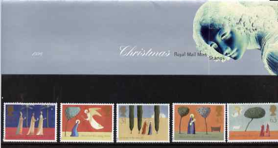Great Britain 1996 Christmas set of 5 in official presentation pack SG 1550-54