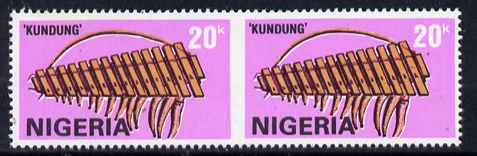 Nigeria 1989 Musical Instruments (Kundung) 20k unmounted mint pair imperf between