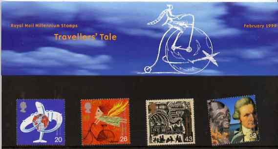 Great Britain 1999 Millennium Series #02 - the Travellers' Tale set of 4 in official presentation pack SG 2073-76*