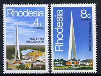 Rhodesia 1978 Trade Fair set of 2 unmounted mint, SG 553-54*