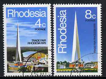 Rhodesia 1978 Trade Fair set of 2 very fine cds used, SG 553-54*