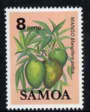 Samoa 1983-84 Mango 8s unmounted mint from Fruits definitive set, SG 652*
