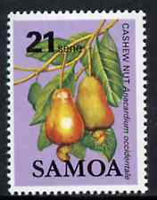Samoa 1983-84 Cashew Nut 21s unmounted mint from Fruits definitive set, SG 657