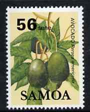Samoa 1983-84 Avocado 56s unmounted mint from Fruits definitive set, SG 661
