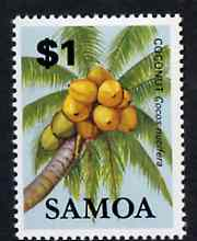 Samoa 1983-84 Coconut $1 unmounted mint from Fruits definitive set, SG 662