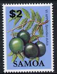 Samoa 1983-84 Vi Apple $2 unmounted mint from Fruits definitive set, SG 663