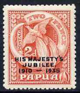 Papua 1935 KG5 Silver Jubilee 2d (Bird of Paradise) unmounted mint, SG 151*