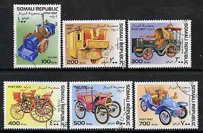 Somalia 1997 Old Cars complete perf set of 6 values, cto used*