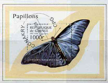 Guinea - Conakry 1998 Butterflies perf miniature sheet cto used