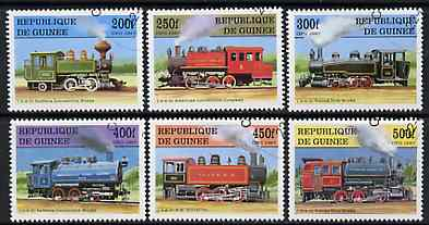 Guinea - Conakry 1997 Steam Locomotives complete perf set of 6 values, cto used SG 1761-66