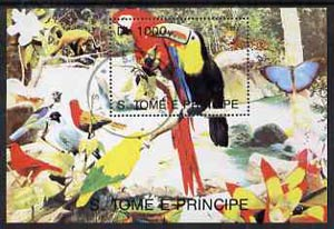 St Thomas & Prince Islands 1998 Birds (Toucan) perf miniature sheet cto used