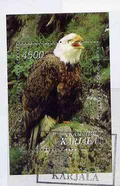 Karjala Republic 1997 Wild Birds (Eagle) perf souvenir sheet cto used