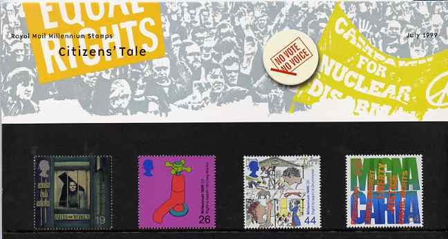 Great Britain 1999 Millennium Series #07 - the Citizens' Tale set of 4 in official presentation pack SG 2098-2101