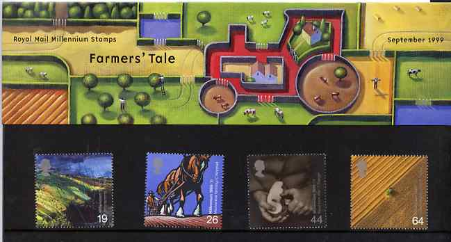 Great Britain 1999 Millennium Series #09 - the Farmers' Tale set of 4 in official presentation pack SG 2107-10