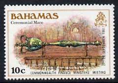 Bahamas 1981 Ceremonial Mace 10c opt