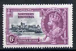 Northern Rhodesia 1935 KG5 Silver Jubilee 6d unmounted mint, SG 21*