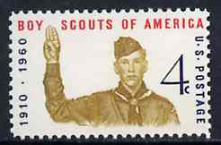 United States 1960 American Scout Movement 50th Anniversary, unmounted mint SG 1144*