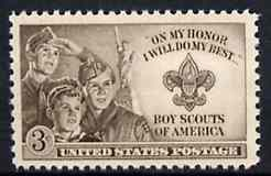 United States 1950 American Boy Scouts, unmounted mint SG 992*
