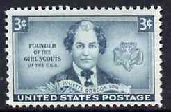 United States 1948 Honouring Juliette Gordon Low (founder of US Girl Scouts) unmounted mint SG 971*