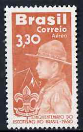Brazil 1960 50th Anniversary of Scouting in Brazil, unmounted mint SG 1034*