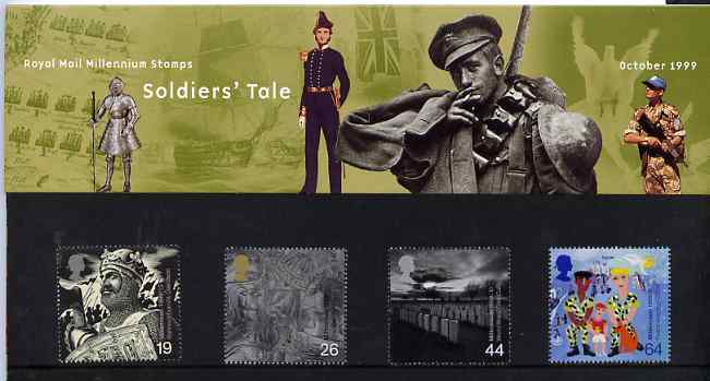 Great Britain 1999 Millennium Series #10 - the Soldiers' Tale set of 4 in official presentation pack SG 2111-14
