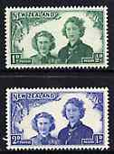 New Zealand 1944 Health - Princesses as Guides set of 2 unmounted mint SG 663-64*