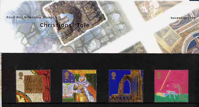 Great Britain 1999 Millennium Series #11 - the Christian's Tale set of 4 in official presentation pack SG 2115-18
