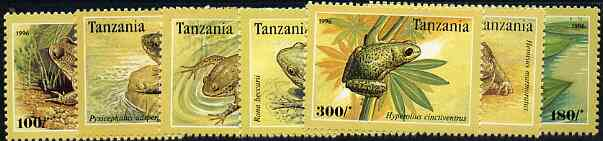 Tanzania 1996 Frogs complete perf set of 7 unmounted mint, Mi 2264-70*