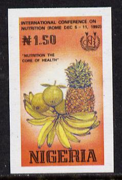 Nigeria 1992 Conference on Nutrition - N1.50 (Fruit) unmounted mint imperf single as SG 644