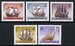 Hungary 1988 Ships set of 5 unmounted mint, SG 3845-49, Mi 3966-70