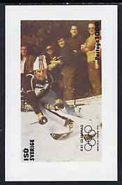 Iso - Sweden 1976 Montreal Olympic Games imperf souvenir sheet (Skiing) unmounted mint