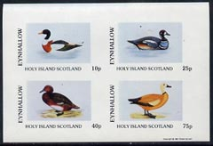 Eynhallow 1981 Ducks #2 imperf  set of 4 values (10p to 75p) unmounted mint