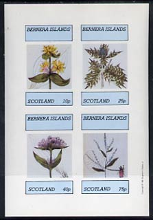 Bernera 1981 Flowers #02 imperf  set of 4 values (10p to 75p) unmounted mint