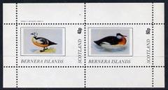 Bernera 1982 Ducks #4 perf  set of 2 values (40p & 60p) unmounted mint