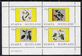 Staffa 1982 Flowers #08 perf  set of 4 values (10p to 75p) unmounted mint