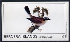 Bernera 1982 Birds #09 imperf  souvenir sheet (�1 value) unmounted mint