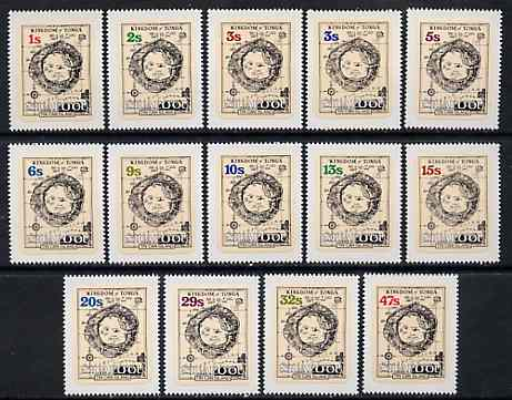 Tonga - Niuafo'ou 1983 Map self-adhesive set of 14 complete to 47s unmounted mint, SG 1-14*